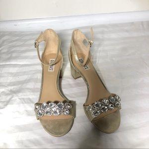 Badgley Mischka block sandal heels